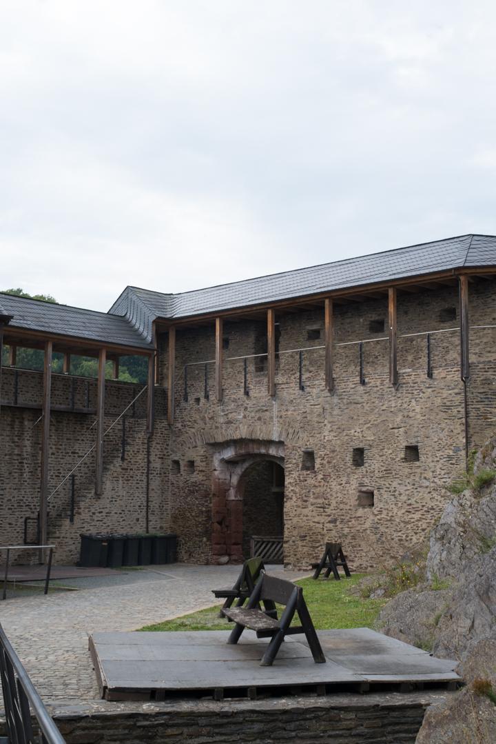 Vianden Castle - Luxembourg - covered battlement
