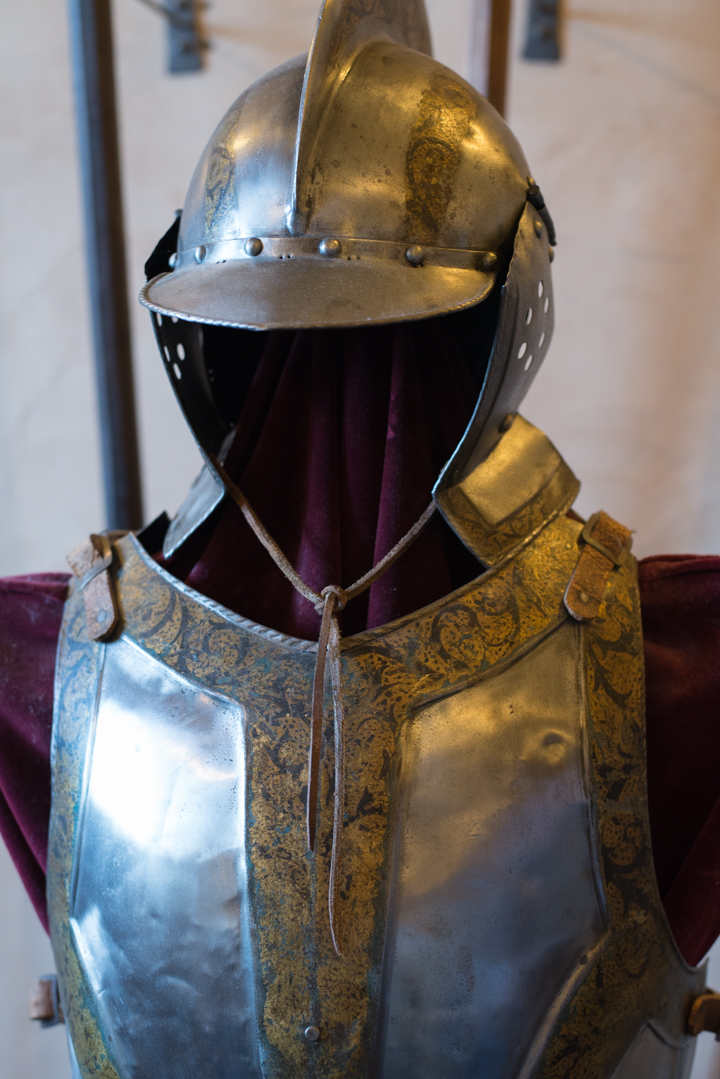 Vianden Castle - Luxembourg - decorated body armour