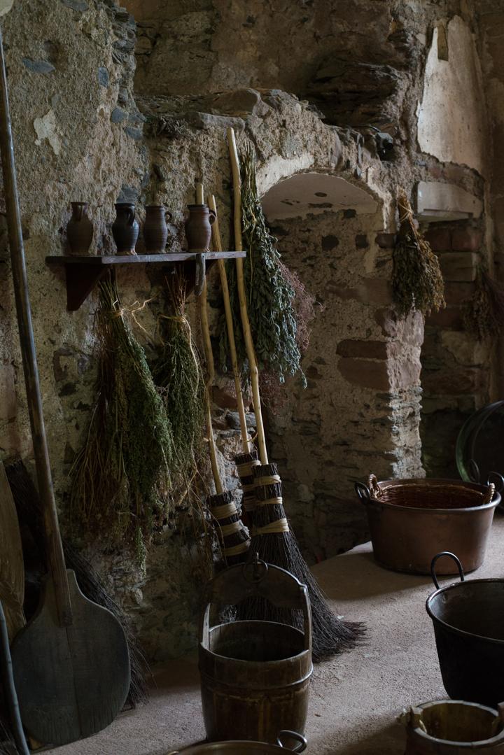 Vianden Castle - Luxembourg - kitchen details