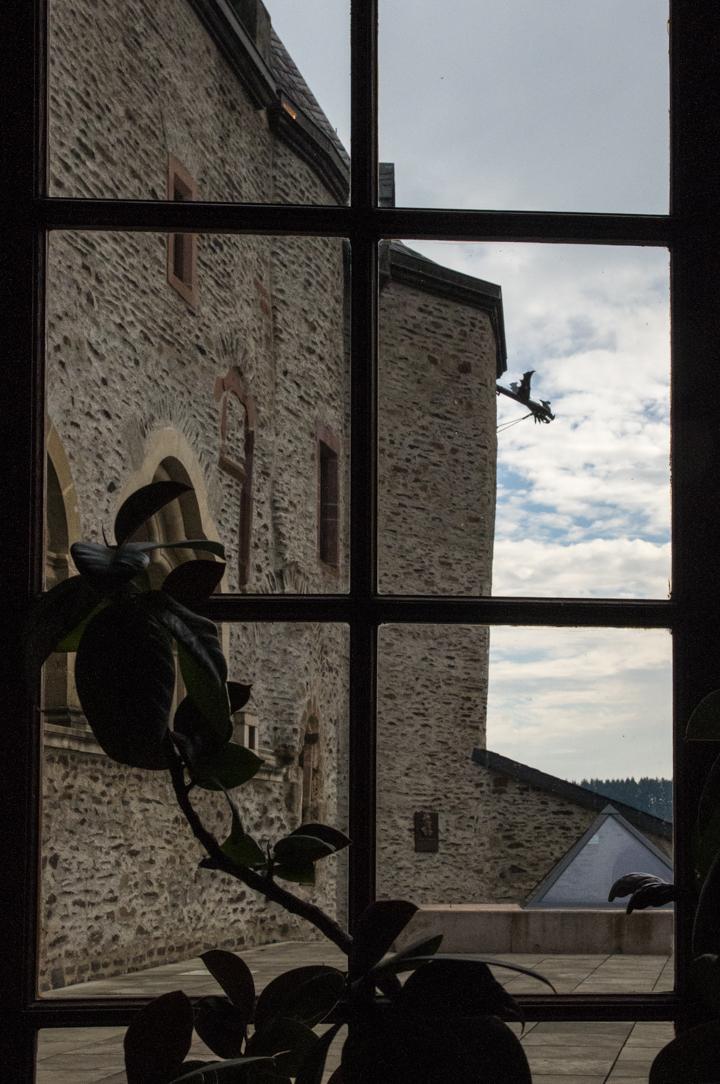 Vianden Castle - Luxembourg - view of inner courtyard