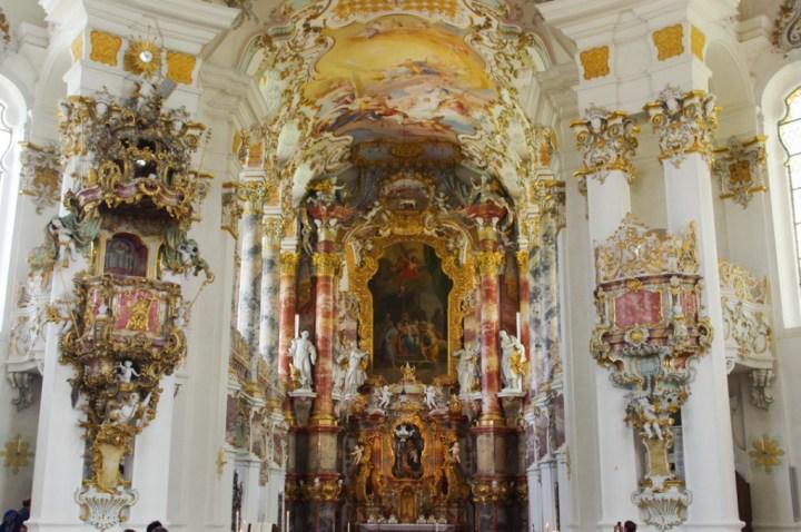 Wies Church - Wieskirche - Germany - Choir and altar view