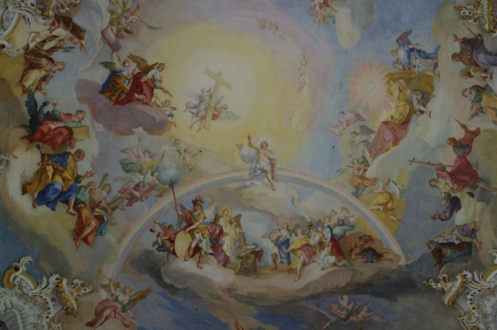 Wies Church - Wieskirche - Germany - Nave ceiling fresco