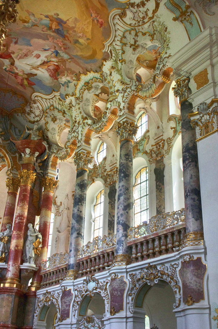 Wies Church - Wieskirche - Germany - rococo side of the altar