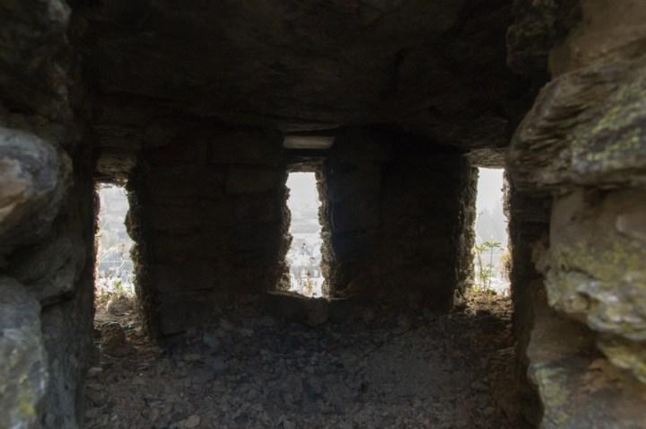 Bouillon Castle - Belgium - Godfrey of Bouillon - double storied three slitted loop holes