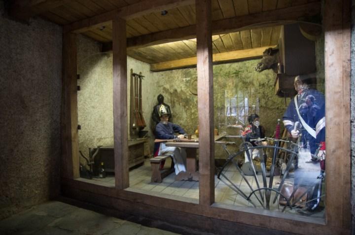 Bouillon Castle - Belgium - Godfrey of Bouillon - inside guardhouse