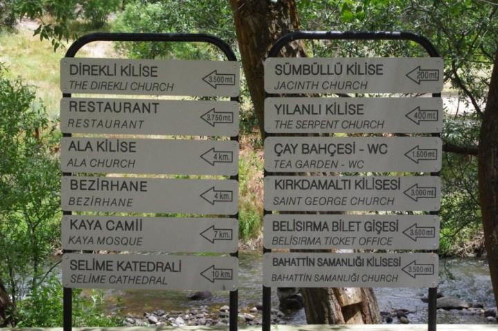 Ihlara Valley - Cappadocia - Turkey - treck signs