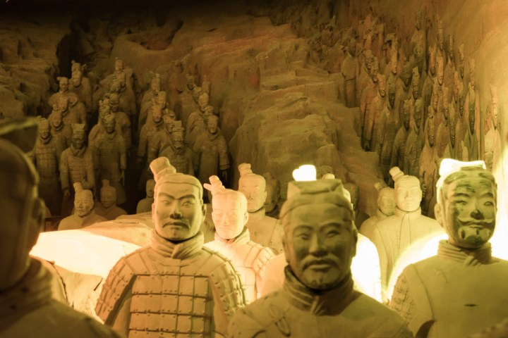 Terracotta Army of Xi'an - reproduction of display