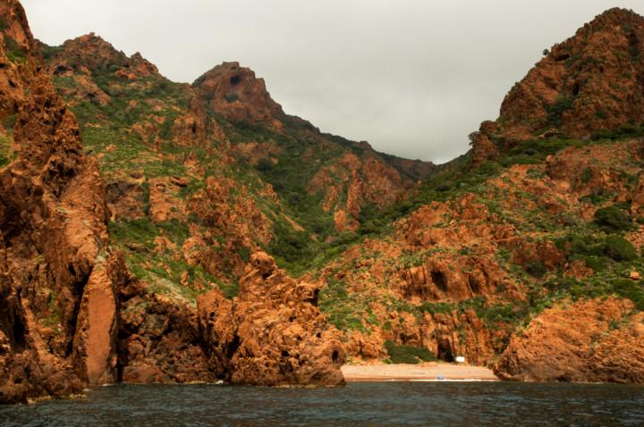 Scandola Nature Reserve in Corsica - private beach