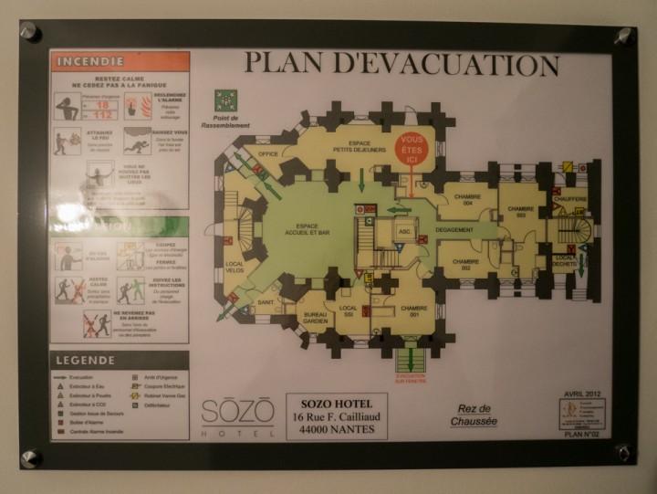 Sozo hotel - Nantes - France - floor plan
