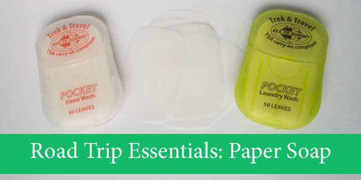 Road Trip Essential: Pocket Paper Soap - Check it out on roadtripsaroundtheworld.com