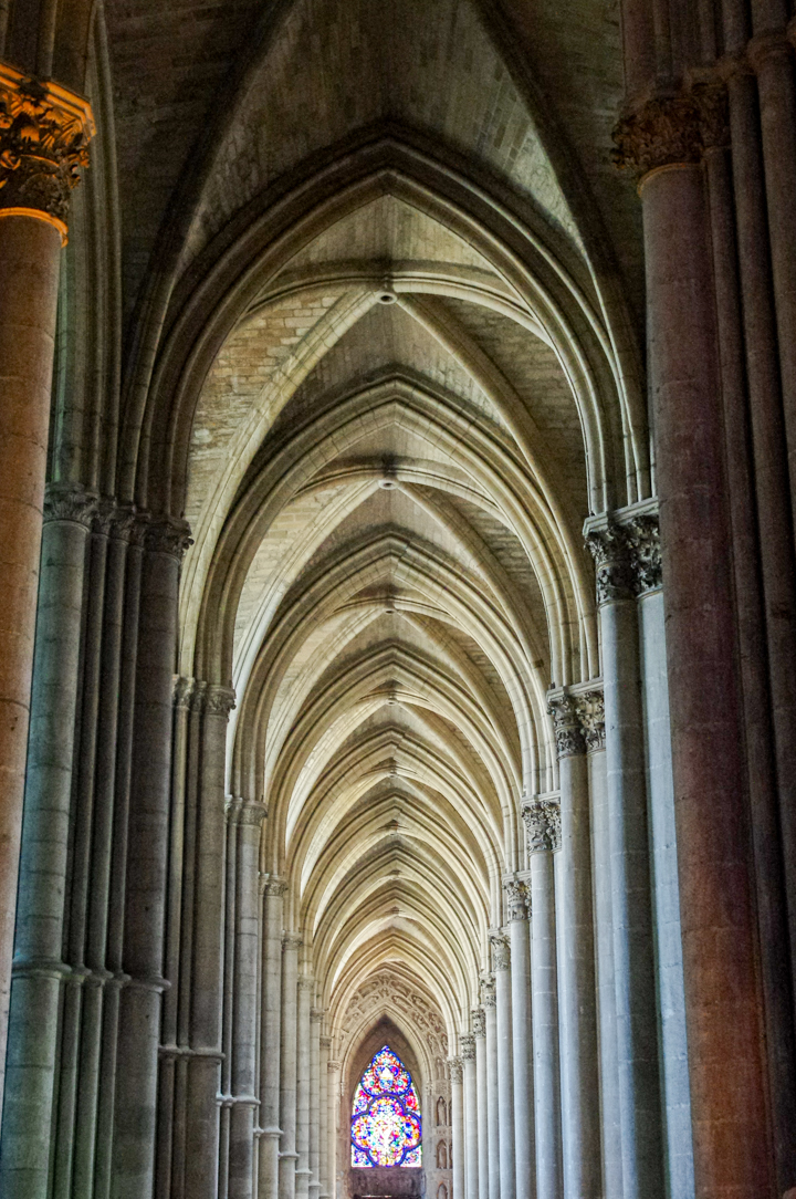 Reims cathedral nave ceiling - France