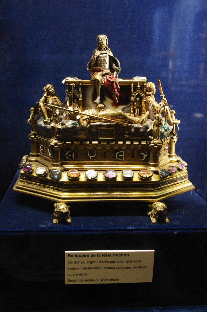 Reims cathedral treasure - Reliquary held at the Palace of Tau in Reims - France