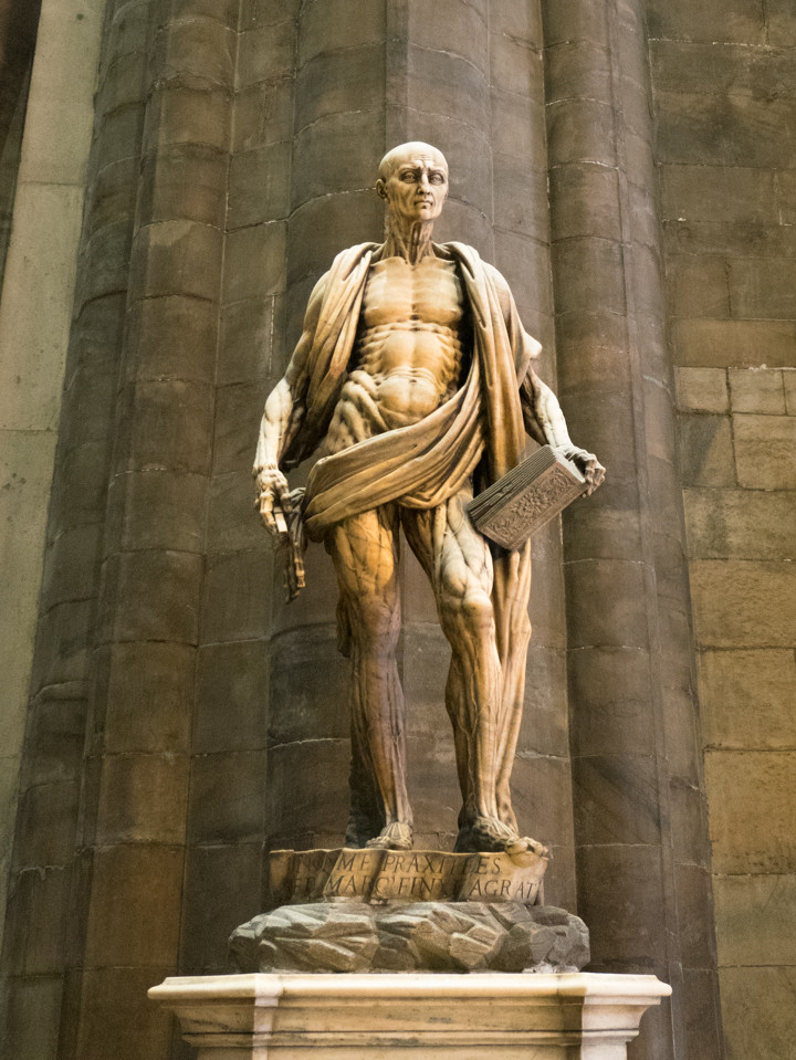 Saint Bartholomew Flayed (1562) by Marco d'Agrate - Duomo di Milano - Milan Cathedral - Italy