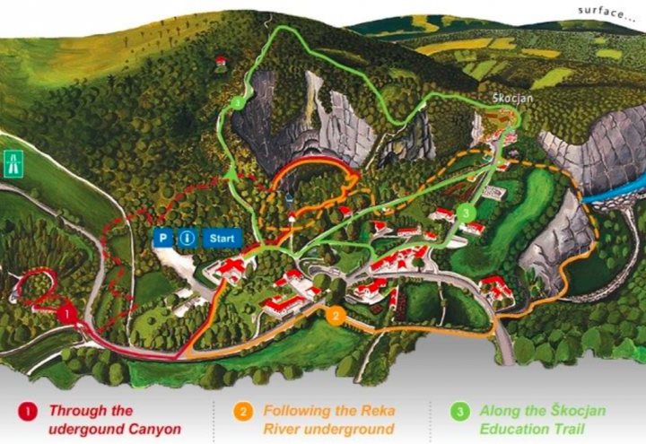 Skocjan Caves map - Slovenia