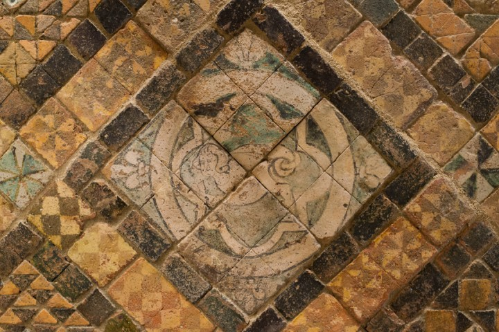 Suscinio - Brittany - France - mermaid on terracotta tile