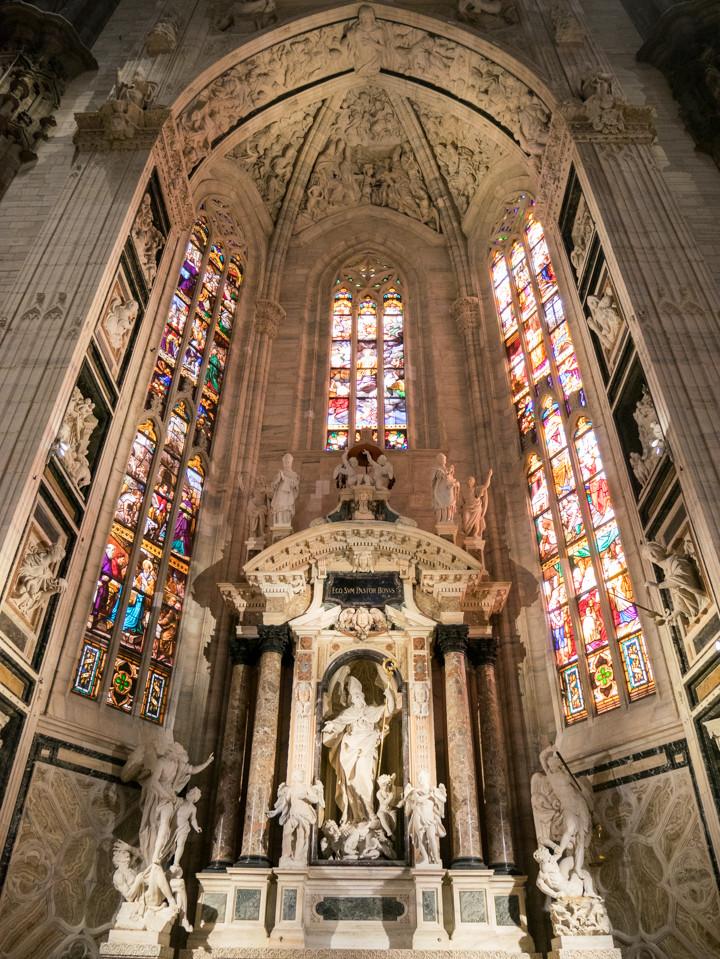 The Altar of Saint Giovanni Bono in the Duomo di Milano - Milan Cathedral - Italy