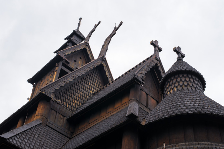 Norskfolkemuseum Oslo - Norway - open air museum - Gol Stave Church roof