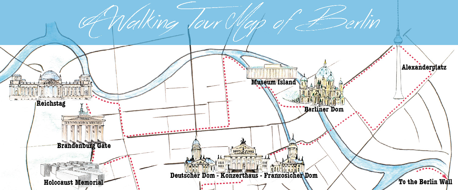 A Walking tour map of Berlin Only on Road Trips around the World