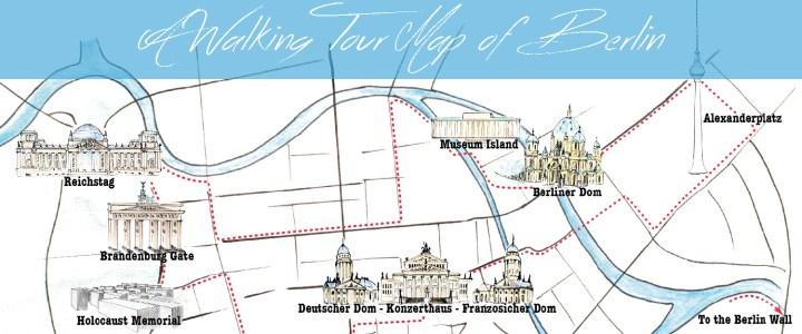 A Walking Tour Map of Berlin