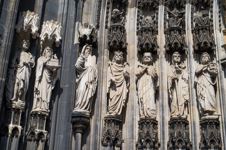 Detail of the Cologne Cathedral main entrance - Cologne - Germany