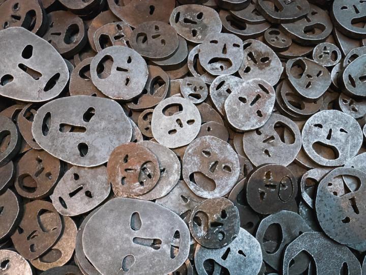 Jewish Museum Berlin - Menashe Kadishman Fallen Leaves in the Memory Void - RoadTripsaroundtheWorld.com