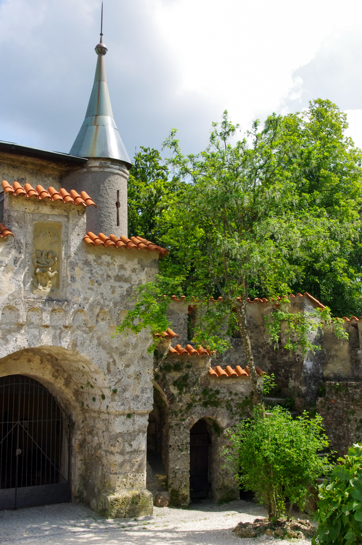 Part of the curtain wall of the Lichtenstein Castle - visited during a road trips in Germany - learn more on roadtripsaroundtheworld.com