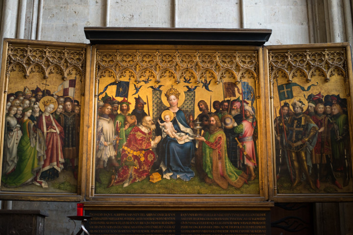 Saint Mary's Chapel Altarpiece by Stefan Lochner in the Cologne Cathedral - Germany