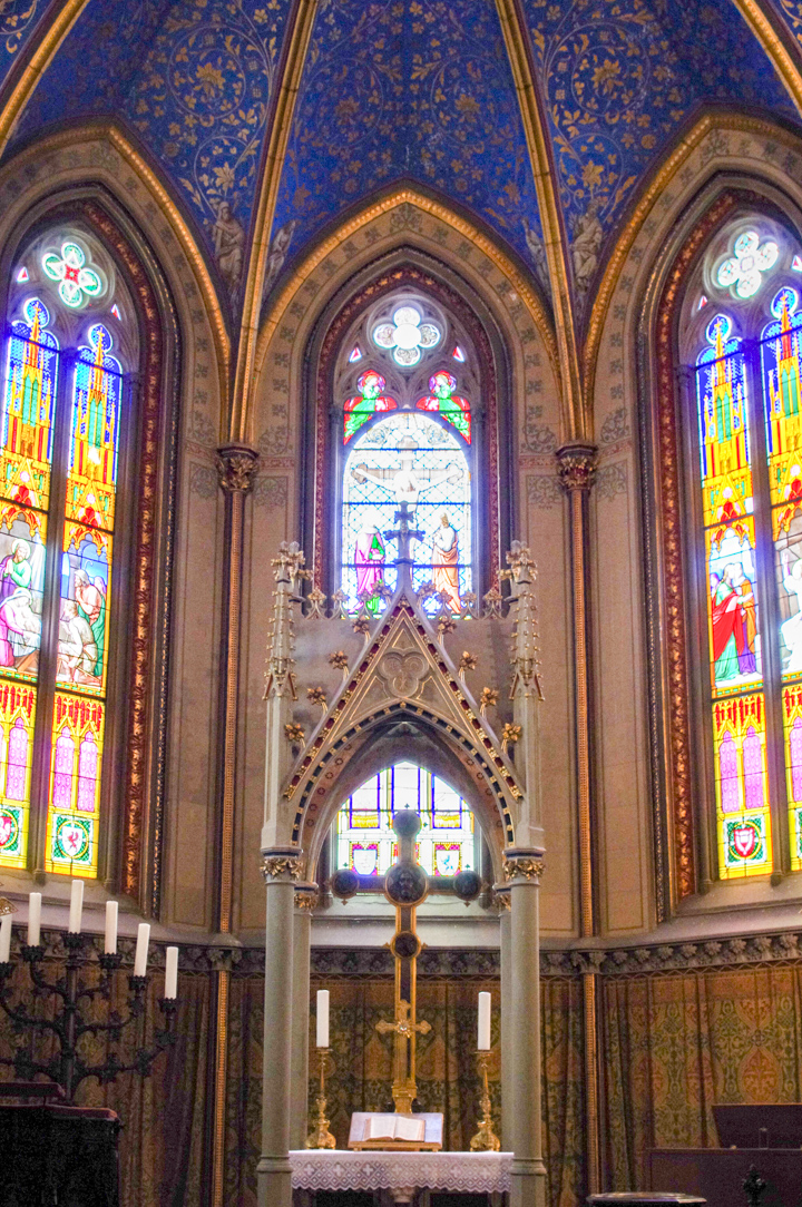 The Christ's Chapel of the Hohenzollern Castle in Germany - Check out roadtripsaroundtheworld.com to find out more