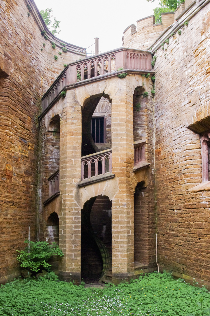 The famous staircase of the Hohenzollern Castle in Germany - Check out roadtripsaroundtheworld.com to find out more