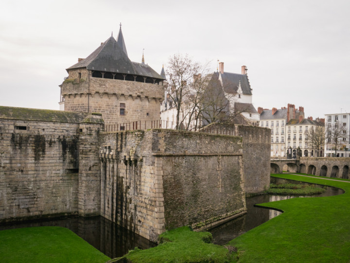 The medieval part of the Dukes of Brittany's Castle in Nantes, France