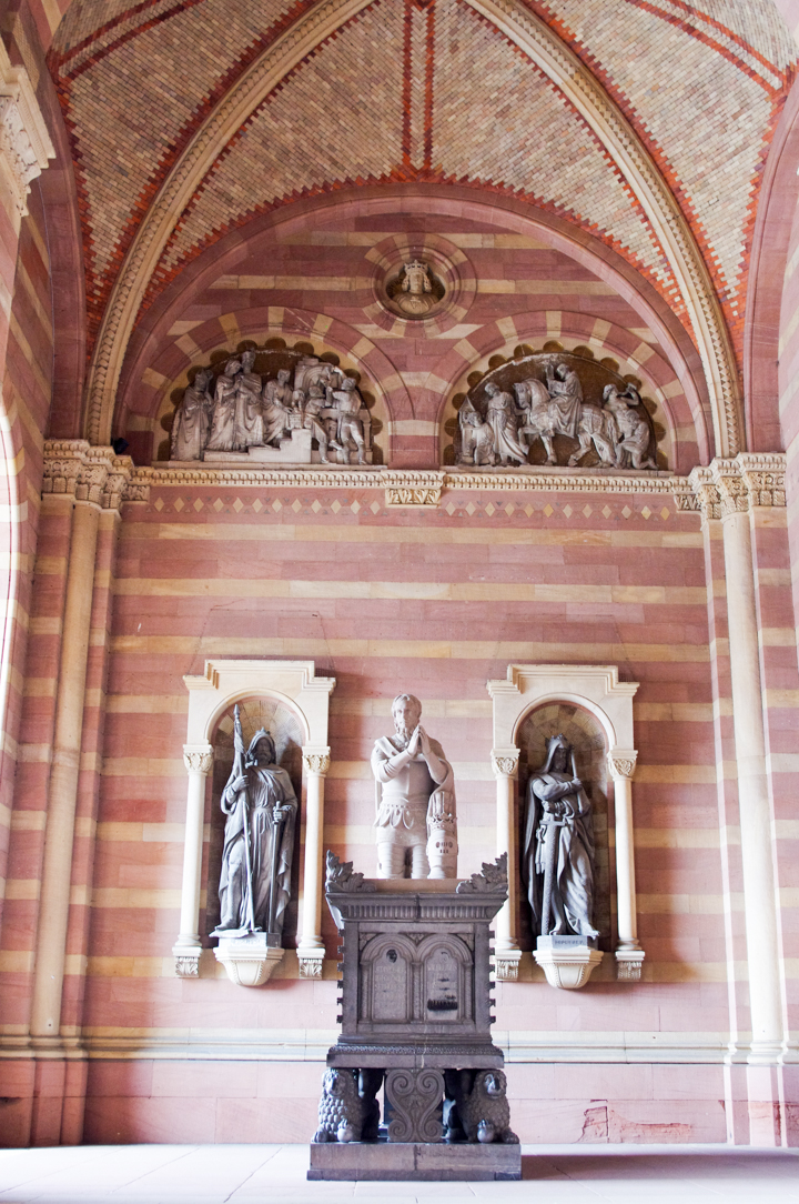 The porch of the Speyer Cathedral - Germany - Visit roadtripsaroundtheworld.com to learn more