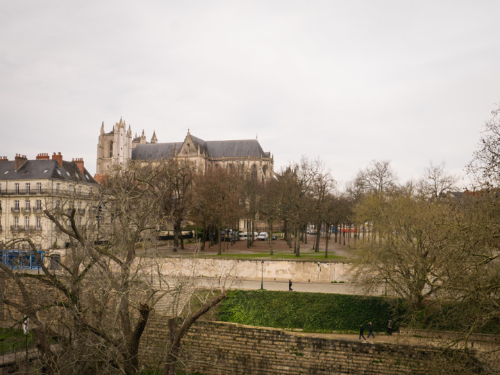 View of the Sant Pierre & Saint Paul Cathedral in Nantes, France