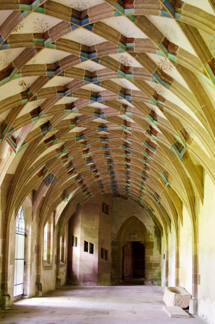 Decorated ceiling in the Maulbronn Monastery, Germany - Find out more on roadtripsaroundtheworld.com