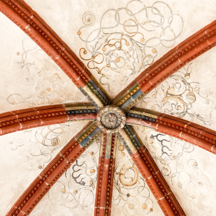 Detail of a Gothic ceiling in the Maulbronn Monastery, Germany - Find out more on roadtripsaroundtheworld.com