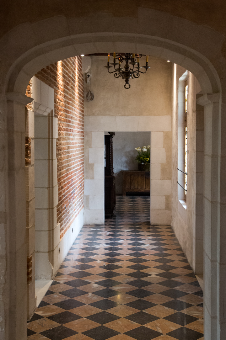 Hallway in the Clos Lucé, France - Find out more on roadtripsaroundtheworld.com