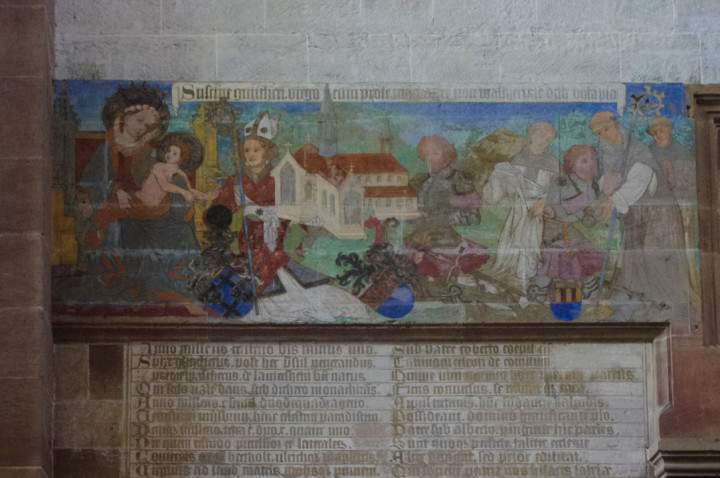 Mural at the Maulbronn Monastery, Germany - Find out more on roadtripsaroundtheworld.com