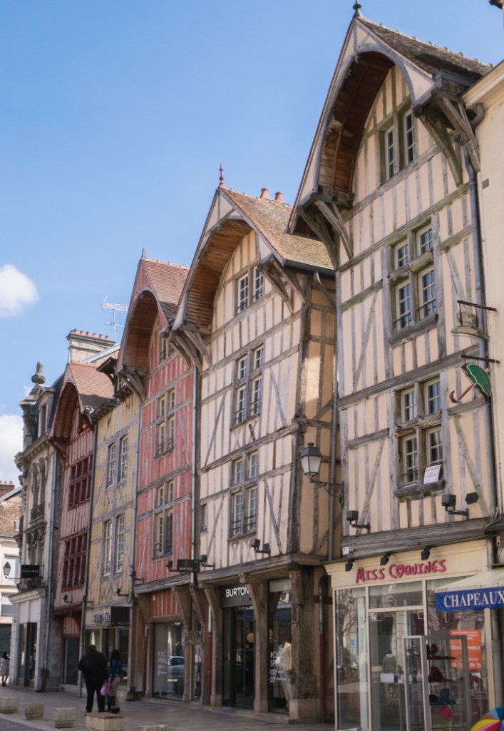Timber frame houses in Troyes, France - roadtripsaroundtheworld.com