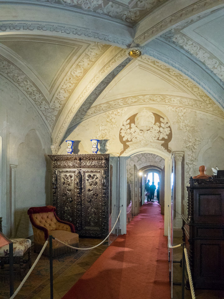 Rooms of the Pena Palace - Sintra, Portugal - Learn more on roadtripsaroundtheworld.com