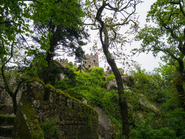 View of the Keep - the Moors Castle, Sintra - Portugal - Learn more on roadtripsaroundtheworld.com