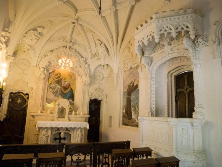 Inside the Chapel - Quinta da Regaleira Palace - Portugal - Learn more on RoadTripsaroundtheWorld.com