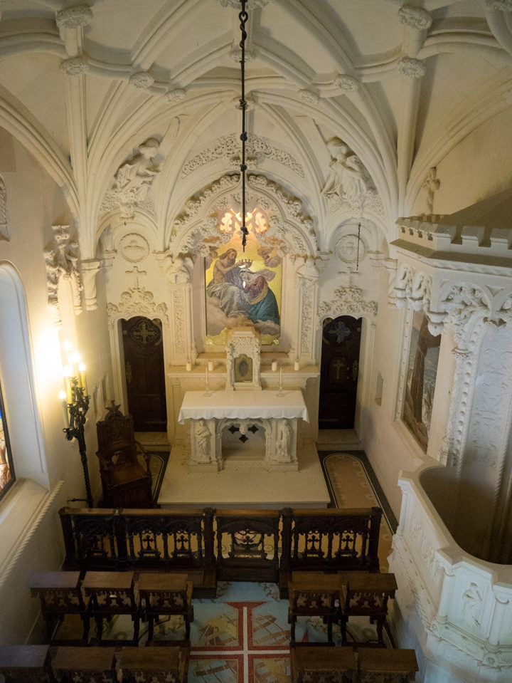 Inside the Chapel of the Quinta da Regaleira Palace - Portugal - Learn more on RoadTripsaroundtheWorld.com
