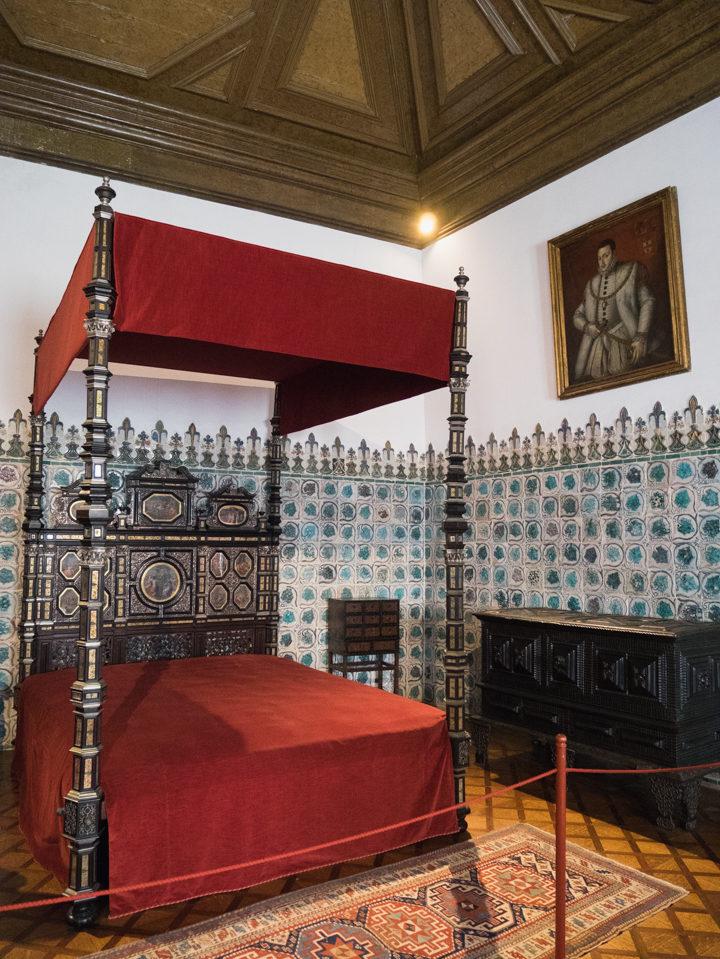King Sebastiao's bedchamber at the Sintra Palace - Portugal - Learn more on RoadTripsaroundtheWorld.com