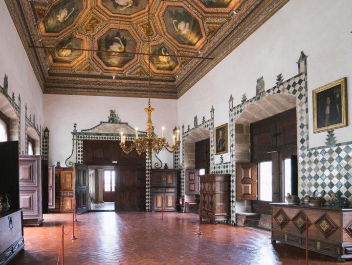 Swan Hall - Sintra Palace - Portugal - Learn more on RoadTripsaroundtheWorld.com
