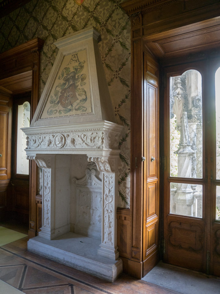 The Fireplace of the Hall - Quinta da Regaleira Palace - Portugal - Learn more on RoadTripsaroundtheWorld.com
