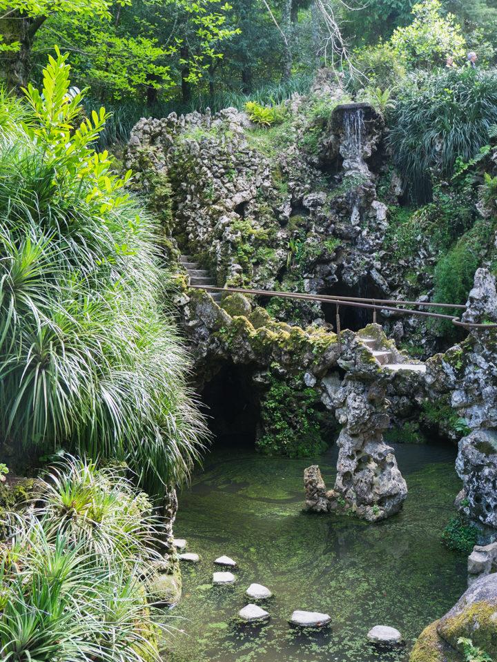 The Lake of the Waterfall - Quinta da Regaleira Palace - Portugal - Learn more on RoadTripsaroundtheWorld.com