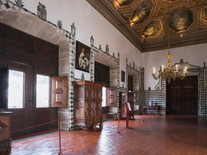 The Swan Hall - Sintra Palace - Portugal - Learn more on RoadTripsaroundtheWorld.com