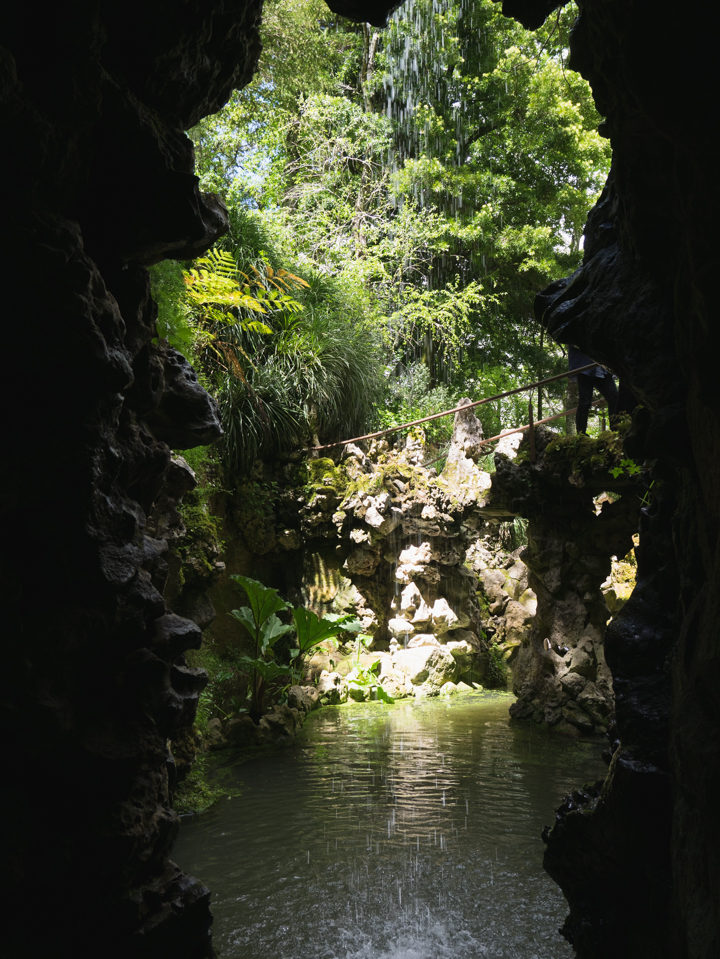 The waterfall - Quinta da Regaleira Palace - Portugal - Learn more on RoadTripsaroundtheWorld.com