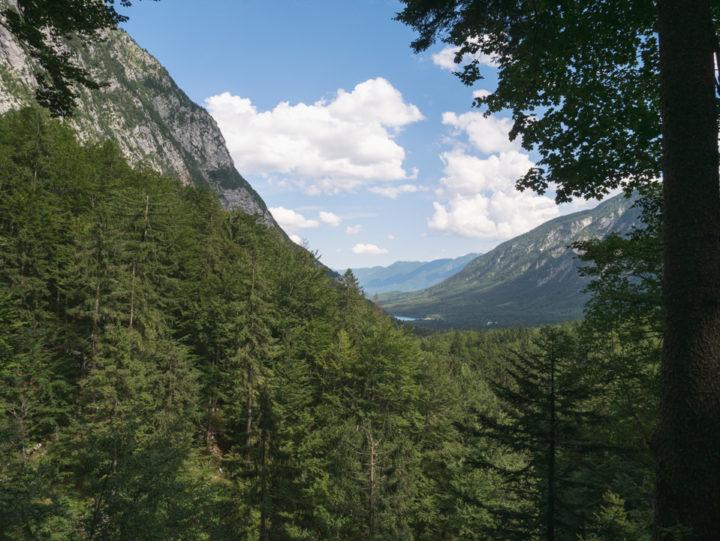 The view from the Savica waterfall near lake Bohinj, Slovenia - learn more on RoadTripsaroundtheWorld.com