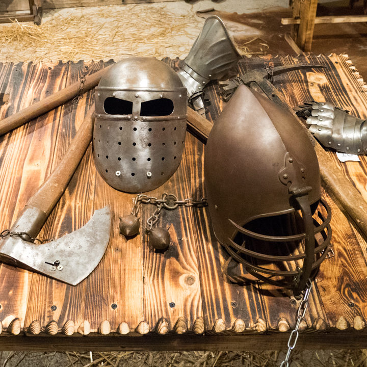 helmets-and-weapons-predjama-castle-slovenia-learn-more-on-www-roadtripsaroundtheworld-com