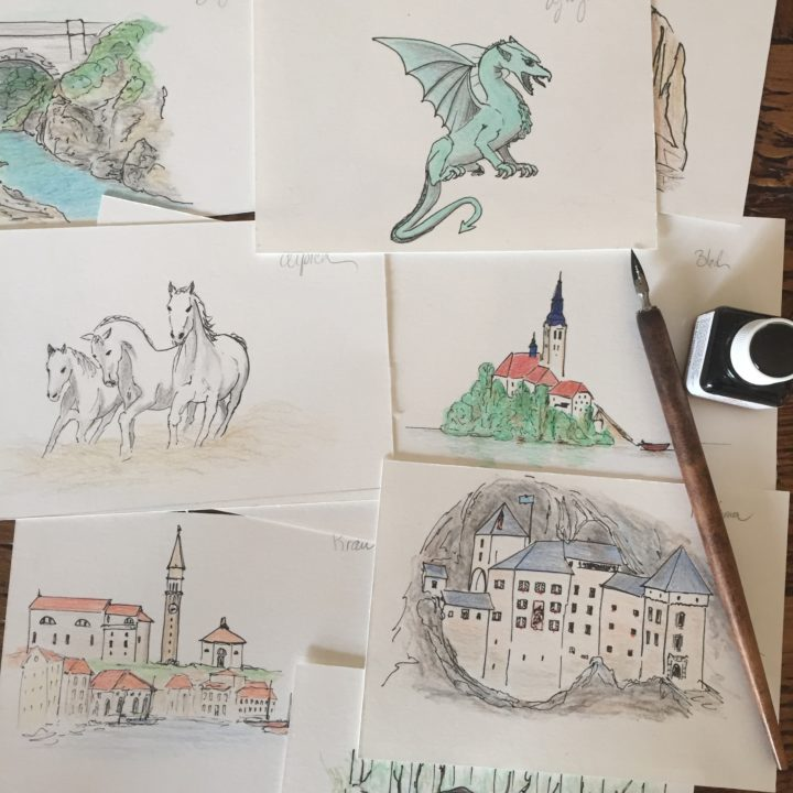 slovenia-road-trip-drawings-free-postcards-on-road-trips-around-the-world
